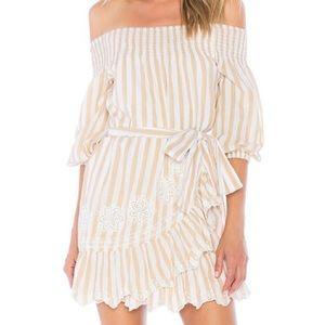 Tularosa Maida off the shoulder ruffle mini dress